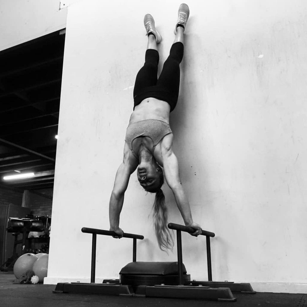 Handstand Pushup with Parallette