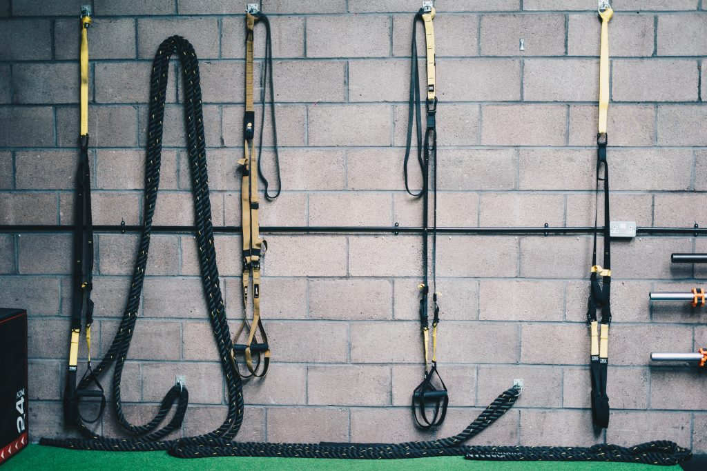 Bands Hanging in Gym